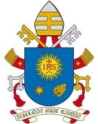 coat-of-arms-of-pope-francis-revised-version-eight-ponted-star-nard-flower-motto