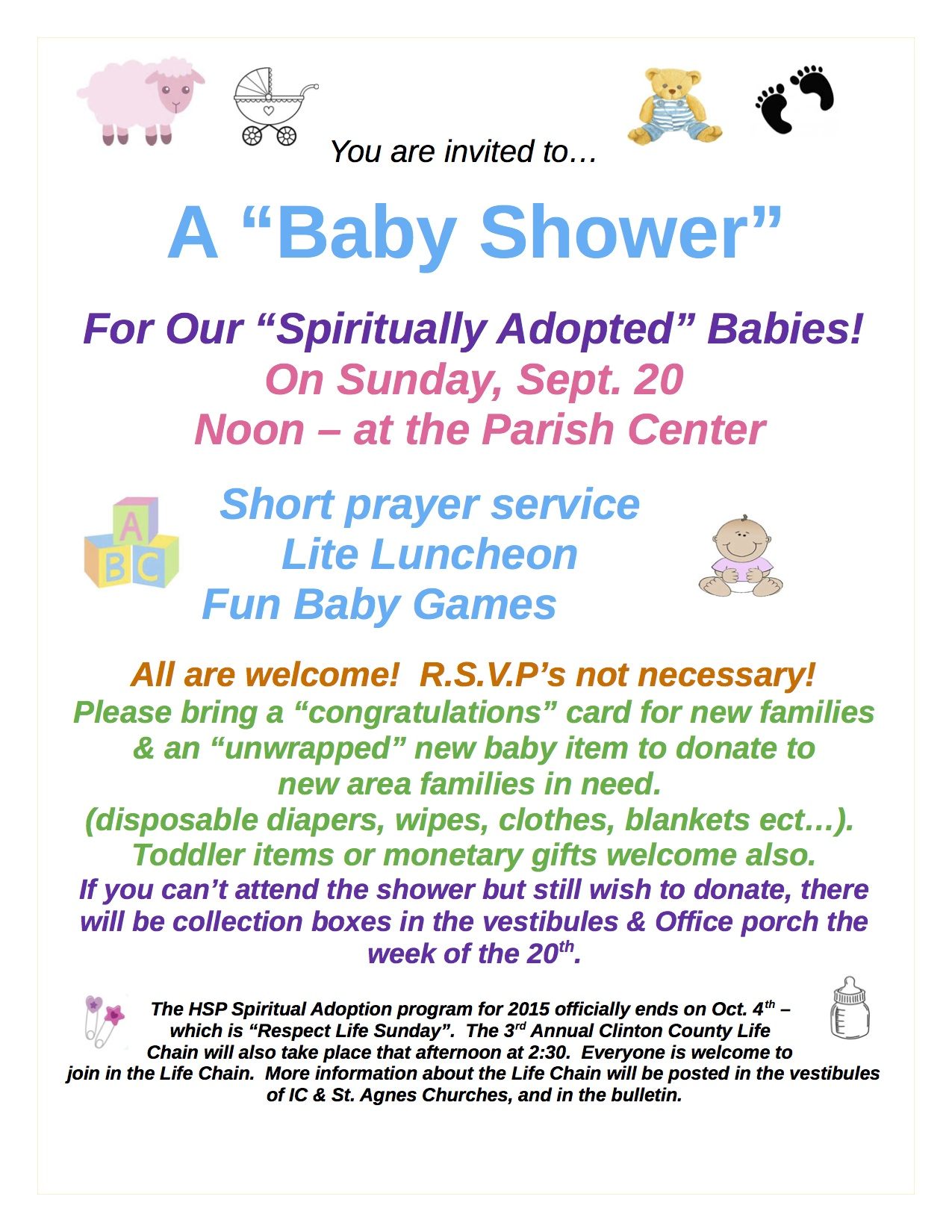 Delicieux HSP Spiritual Adoption Baby Shower Poster